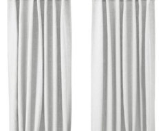 Aina Pair of Curtains, White modern curtains