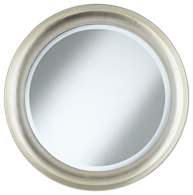 Silver round wall mirror tattoo design bild for Round silver wall mirror