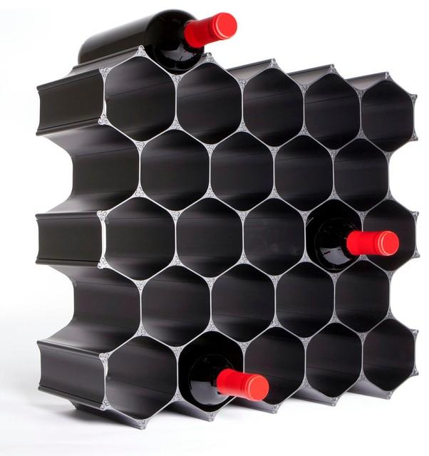 WineHive 28-Bottle Modular Wine Rack - Contemporary - Wine ...