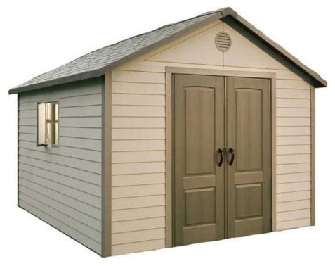 Lifetime 11 x 13 5 ft outdoor storage shed contemporary for Modern outdoor storage shed