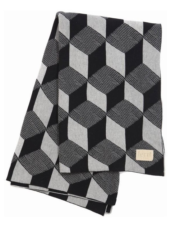 Ferm Living Squares Blanket - Ferm Living used its Squares print to make this gorgeous jacquard Knit Blanket. You can throw it on your couch, put it on your bed or use it to stay warm on a cool night.