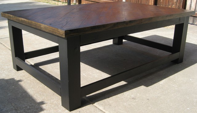 Coffee table made from reclaimed hardwood flooring traditional-coffee-tables