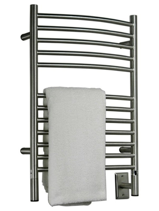 Amba - Curved Electric Heated Towel Warmer, Oil Rubbed Brushed - • Towel Warmer / Towel Dryer