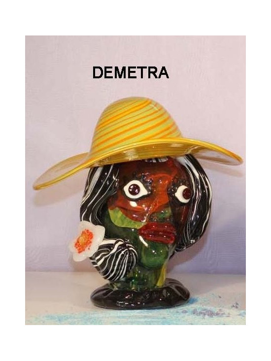 Murano Glass Sculptures and Figurines - Murano Glass demetra bust - COA and made to order.  More available so please contact us