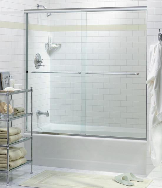 Oasis Frameless Bypass Shower Doors Contemporary