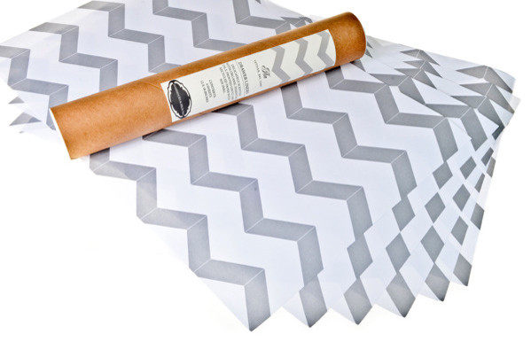 Grey Chevron Drawer Liners contemporary-drawer-and-shelf-liners