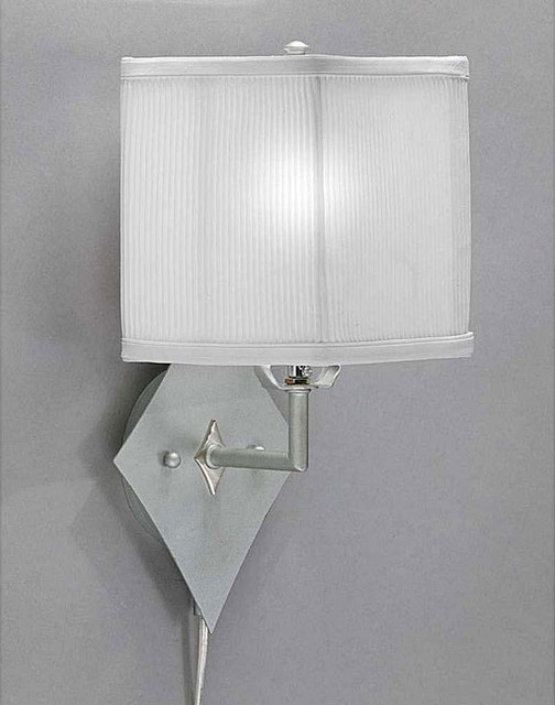 Contemporary Plug In Wall Sconces : Pin-up Plug-in Brushed Nickel Lamp - Contemporary - Desk Accessories - by Overstock.com