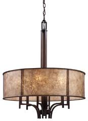 ELK Lighting 15034/6 6 Light Barringer Large Pendant, Aged Bronze