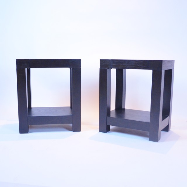 Pair Of West Elm End Tables contemporary