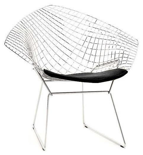Bertoia Diamond Lounge Chair   DWR midcentury-chairs