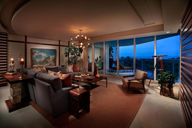 Moraya Bay Model Naples Florida Contemporary Living Room By Ren E Gaddis Interiors
