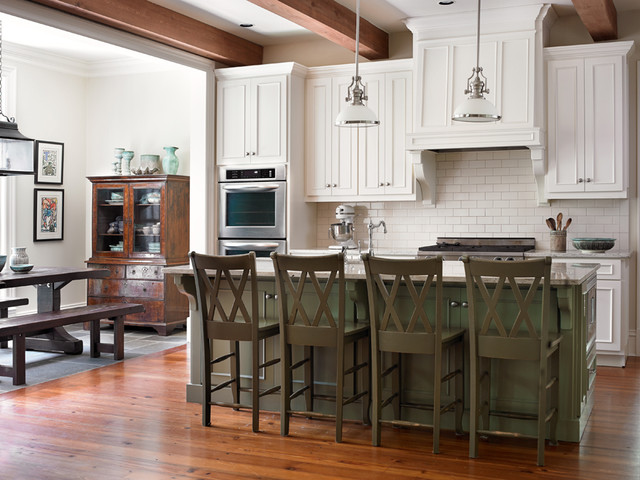Raised Cottage Family Home traditional-kitchen