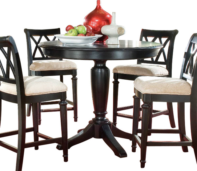 Houzz Dining Table: American Drew Camden-Dark Round Counter Height Table In