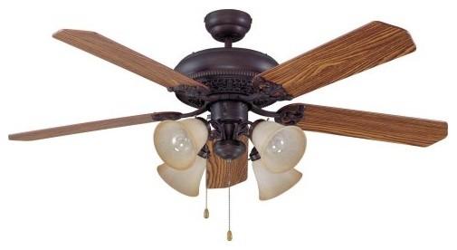 Ellington E-MAN52ABZ5C4 Manor 52 in. Indoor Ceiling Fan - Aged Bronze traditional-ceiling-fans