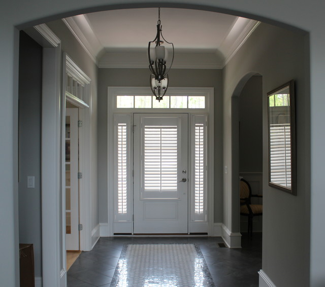 Shutter on Doors & Sidelights - Contemporary - Window Blinds - other ...