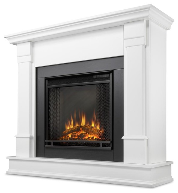 Silverton Electric Fireplace In White Traditional Fireplaces By Ivgstores