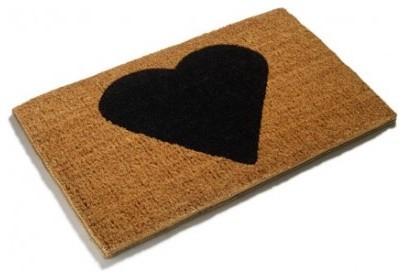 Heart Love Doormat modern-doormats