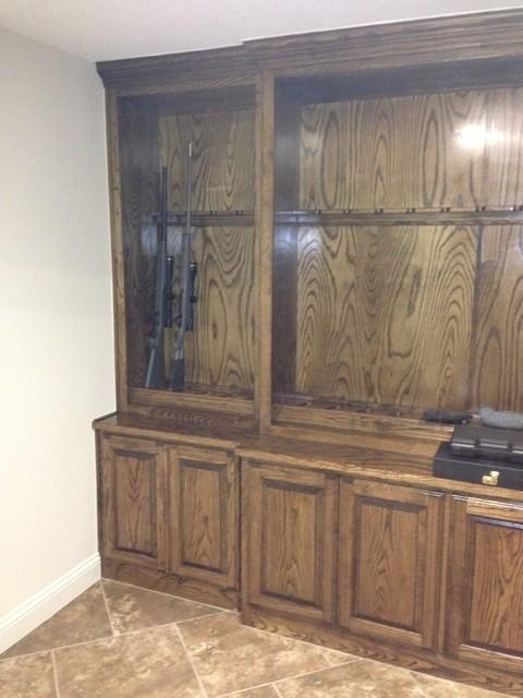 Ideas for safe room gun cabinet for Gun safe room ideas