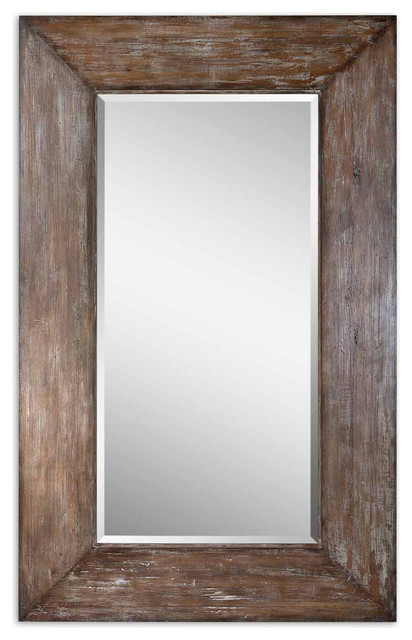 Uttermost 09505 Langford Large Wood Mirror contemporary-wall-mirrors