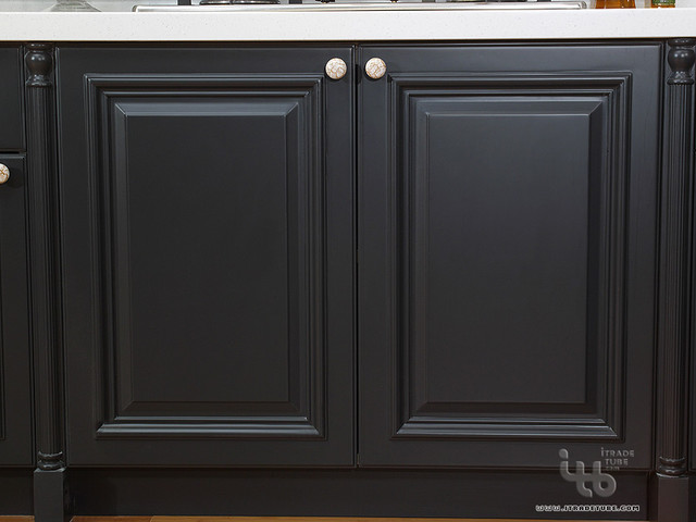 Black kitchen black kitchen cabinets kitchen cabinetry for Black kitchen cabinet doors
