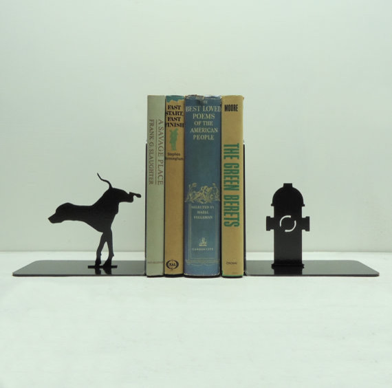 Fire Hydrant Bookends by Knob Creek Metal Arts eclectic-bookends