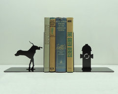 Fire Hydrant Bookends by Knob Creek Metal Arts eclectic-accessories-and-decor