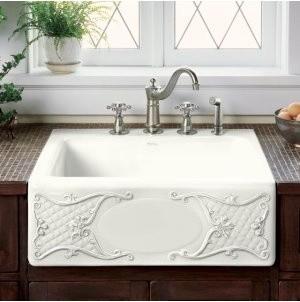 Kohler Tidings Design on Alcott Kitchen Sink traditional-kitchen-sinks