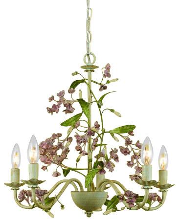 AF Lighting 7045-5H Grace 5 Light Single Tier Chandelier tropical-chandeliers