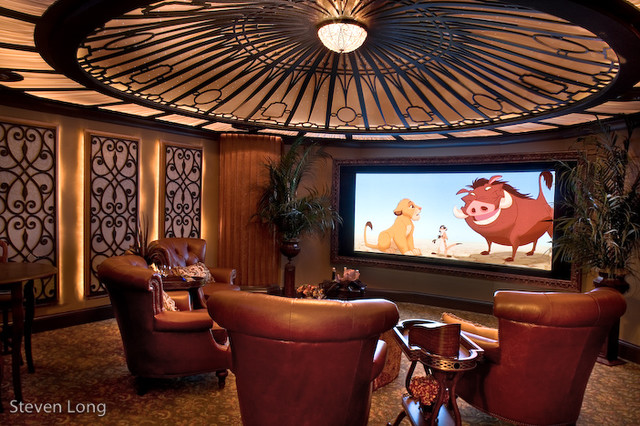 titanic themed home theater traditional