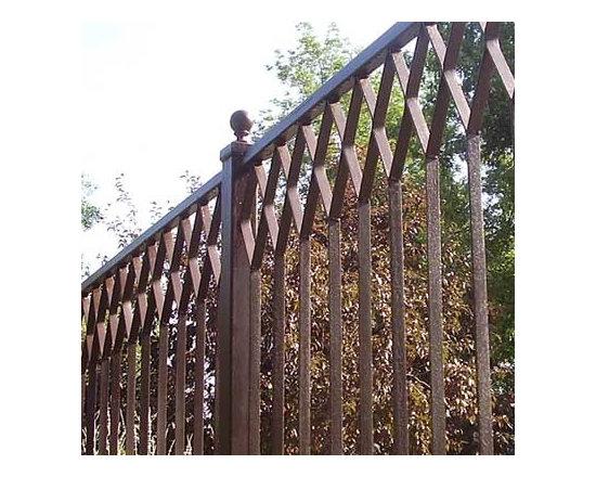 Diamond Pattern Iron Fencing -