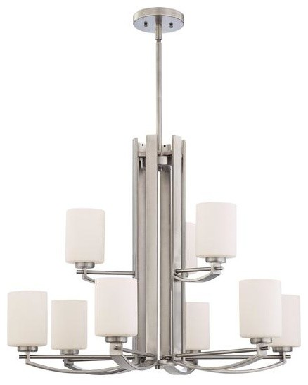 Quoizel Lighting TY5009AN 9 Light Chandelier Taylor Collection contemporary-chandeliers