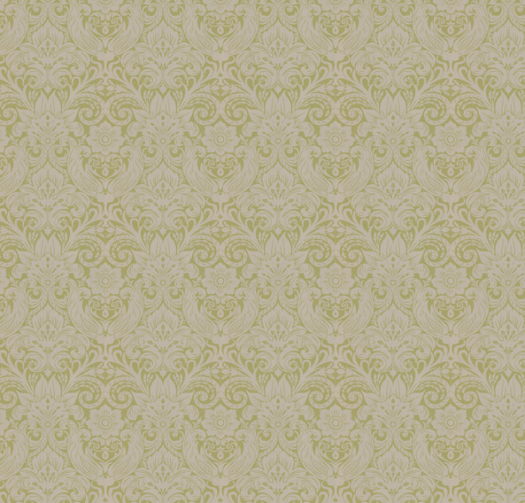 cotswold green gold damask wallpaper traditional