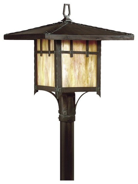 """Oak Knoll Collection 18 3/8"""" High Outdoor Post Light traditional-post-lanterns"""