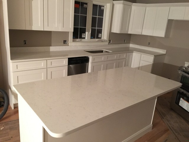 Fairy White Quartz Countertop - Contemporary - boston - by Granite Plus