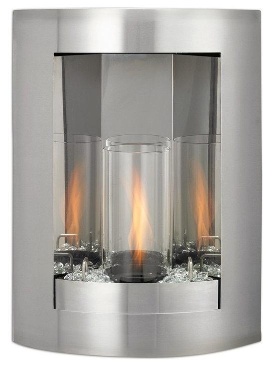 "Sapphire Gel Fuel Fireplace - Dimensions: 24""H x 17""W x 6""D"