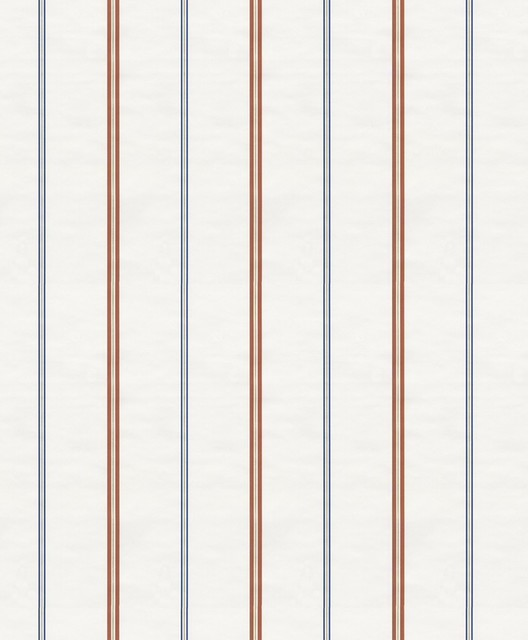 Hero - Lines Wallpaper, White, Red, Blue traditional-wallpaper