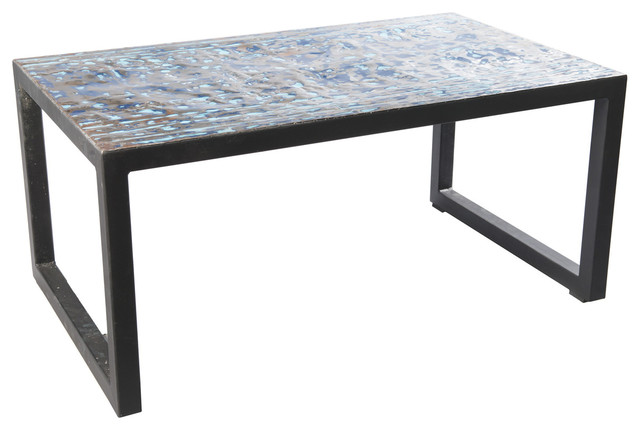 Small metal recycled oil drum coffee table industrial for Small industrial coffee table