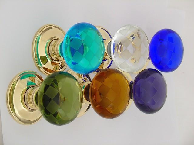 Glass door knobs - Eclectic - Doorknobs - other metro - by Merlin ...