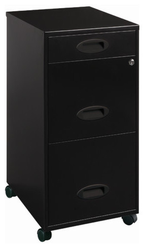 3-Drawer Organizer Mobile File Cabinet - Modern - Home Office Accessories