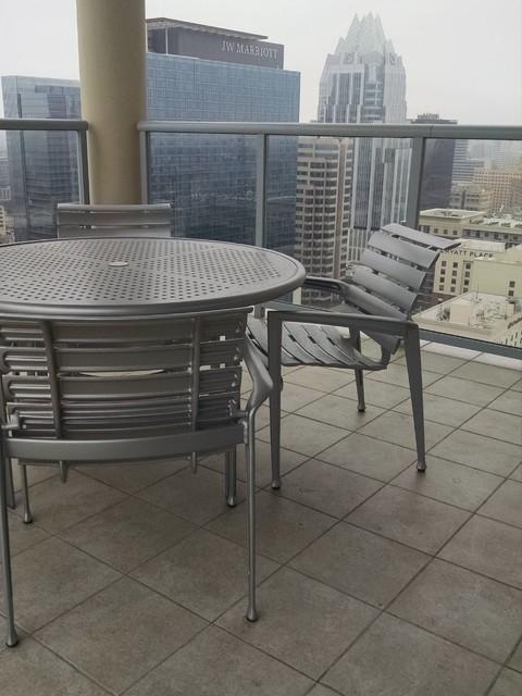 tropitone veer cast aluminum modern outdoor dining