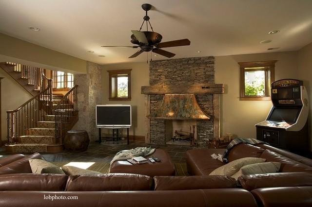 Lake Geneva Custom Home - 1 traditional-basement
