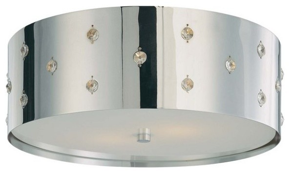 Kovacs P036-077 Chrome Bling Bling 2 Light Flush Mount Ceiling Fixture - Contemporary - Bathroom ...