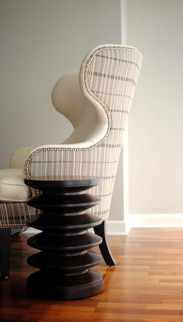 Modern Wing Chair customized through Ethan Allen modern-living-room-chairs