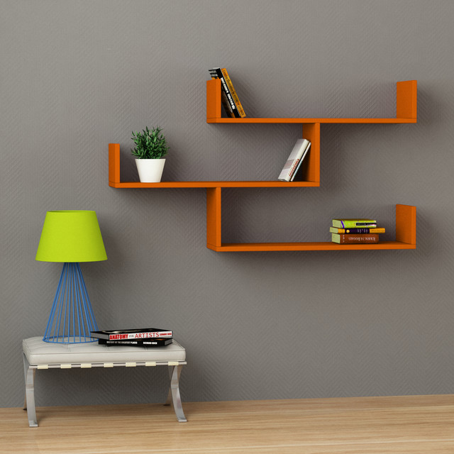 Tibet Wall Shelf Orange Contemporary Display And Wall Shelves Chicago