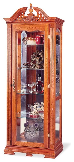 Oak Traditional Curio modern-storage-units-and-cabinets