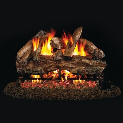 Real Fyre Red Oak Vented Gas Log Set modern-gas-ranges-and-electric-ranges