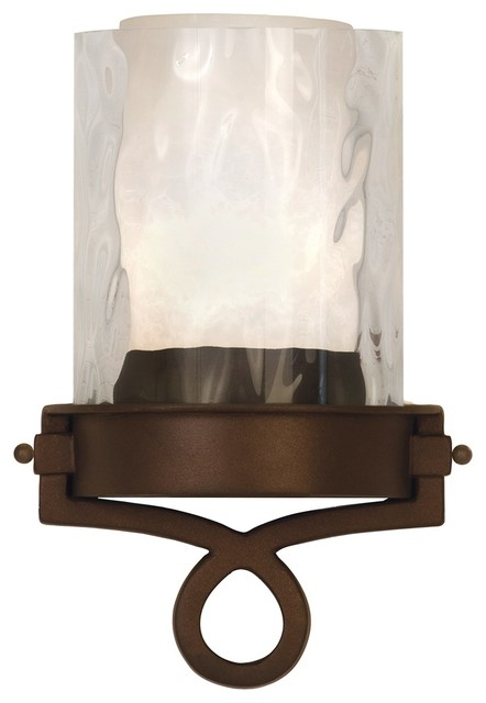 "Country - Cottage Newport Collection Bronze 12 1/4"" High ADA Wall Sconce traditional-wall-lighting"