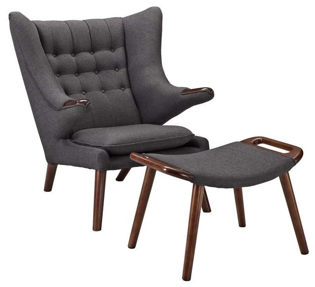 Bear Lounge Chair In Gray Modern Outdoor Chaise Lounges By