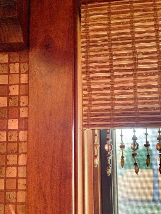 Horizons Woven Wood Shadings with beads added the warmth my client desired -