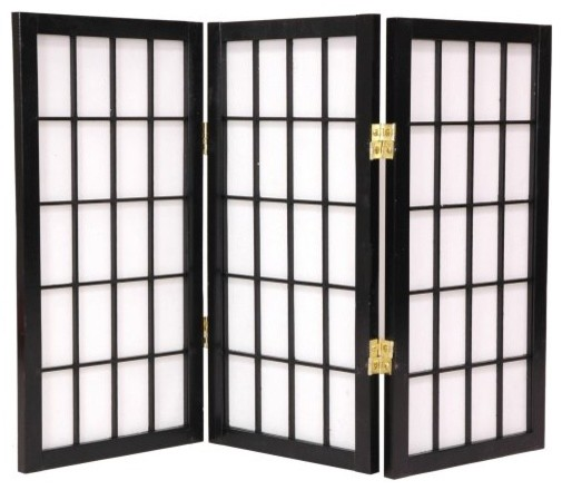 Desktop Window Pane 24 Inch Shoji Screen asian-screens-and-room-dividers